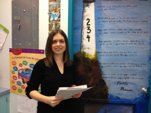 Belmont Secondary's French Immersion teach Mrs. Young