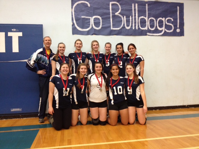 Sr. Girls Volleyball Team with coach Mike Toakley