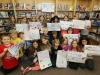 Wishart students with their fundraising posters